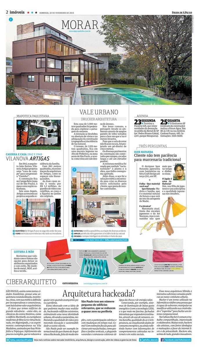 Cesto Basket lonita no jornal Folha de São Paulo de Fevereiro de 2015