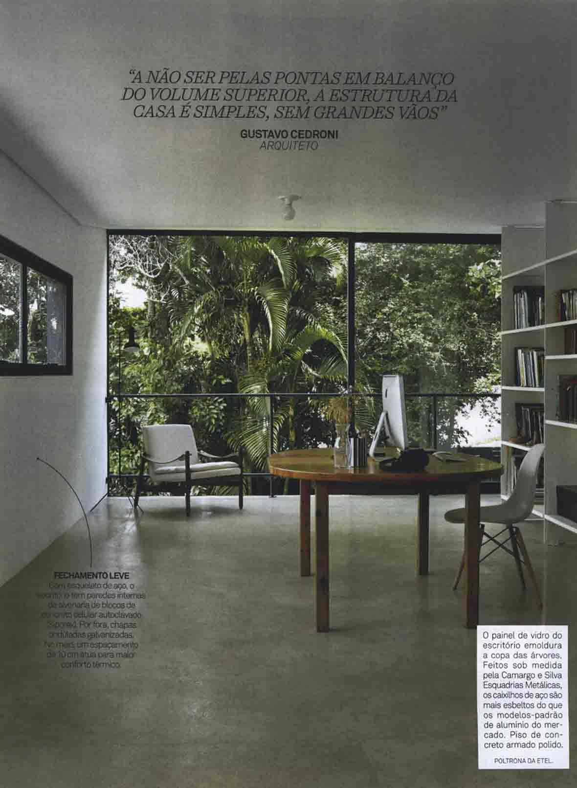 Poltrona Paulistano na revista Arquitetura e Contrução maio de 2015