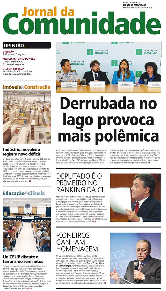 Jornal da Comunidade Agosto 2015 01