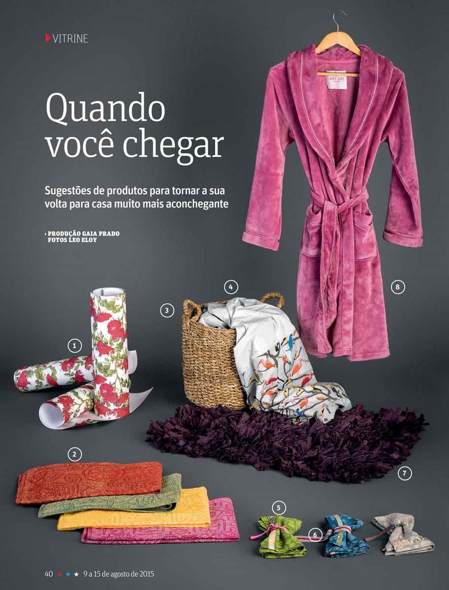 edredom Quilt revista São Paulo do mês de Agosto