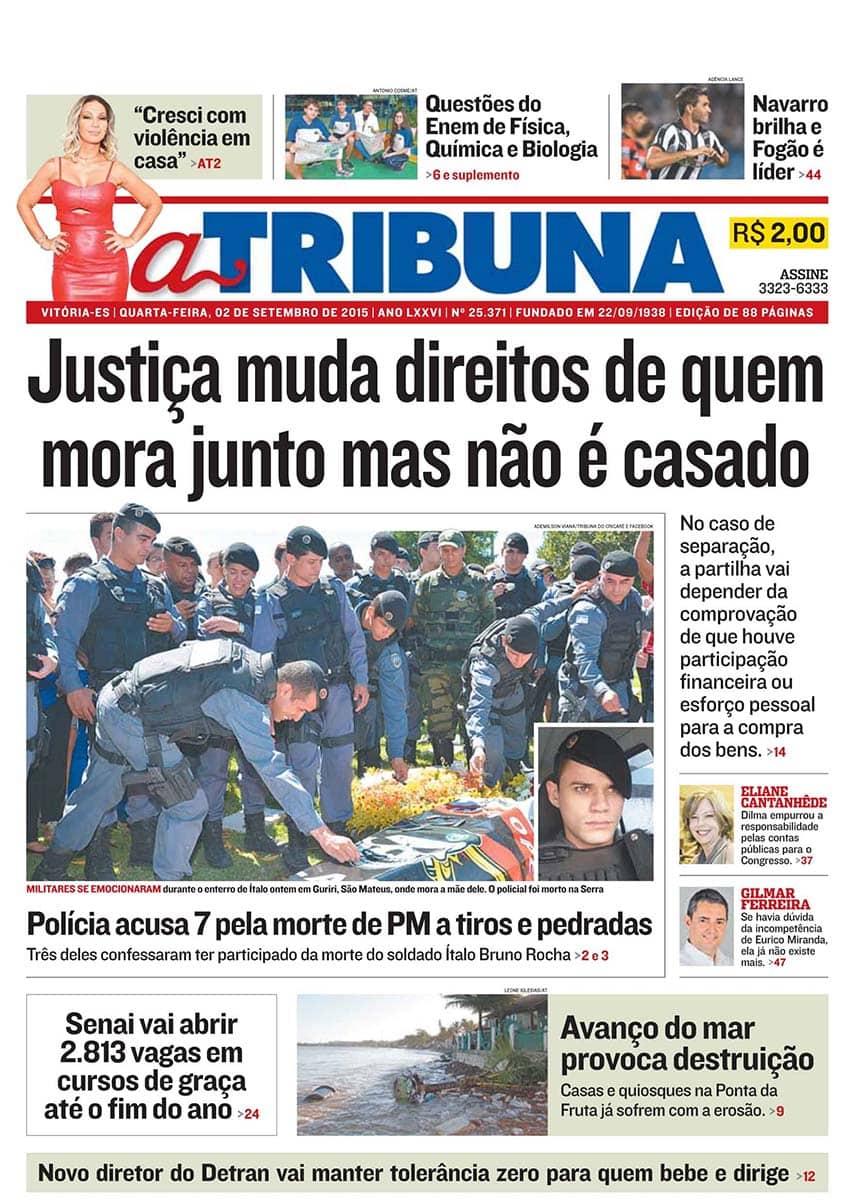 Jornal A Tribuna Setembro 2015 01