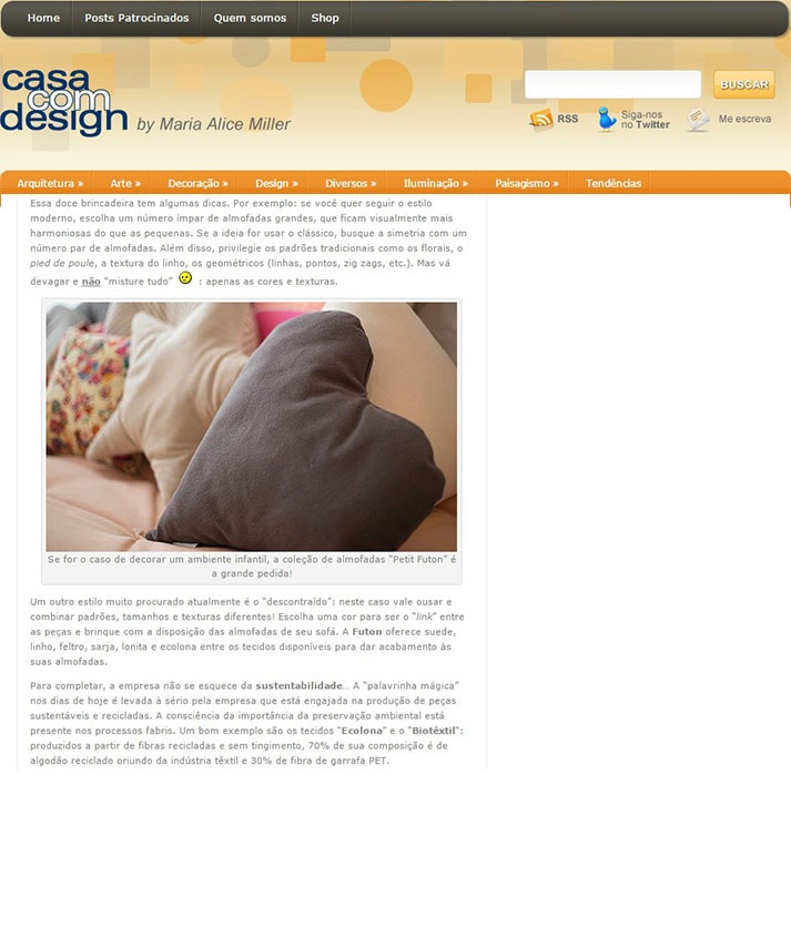 Poltrona Peg Lev, almofadismo e design sustentavel