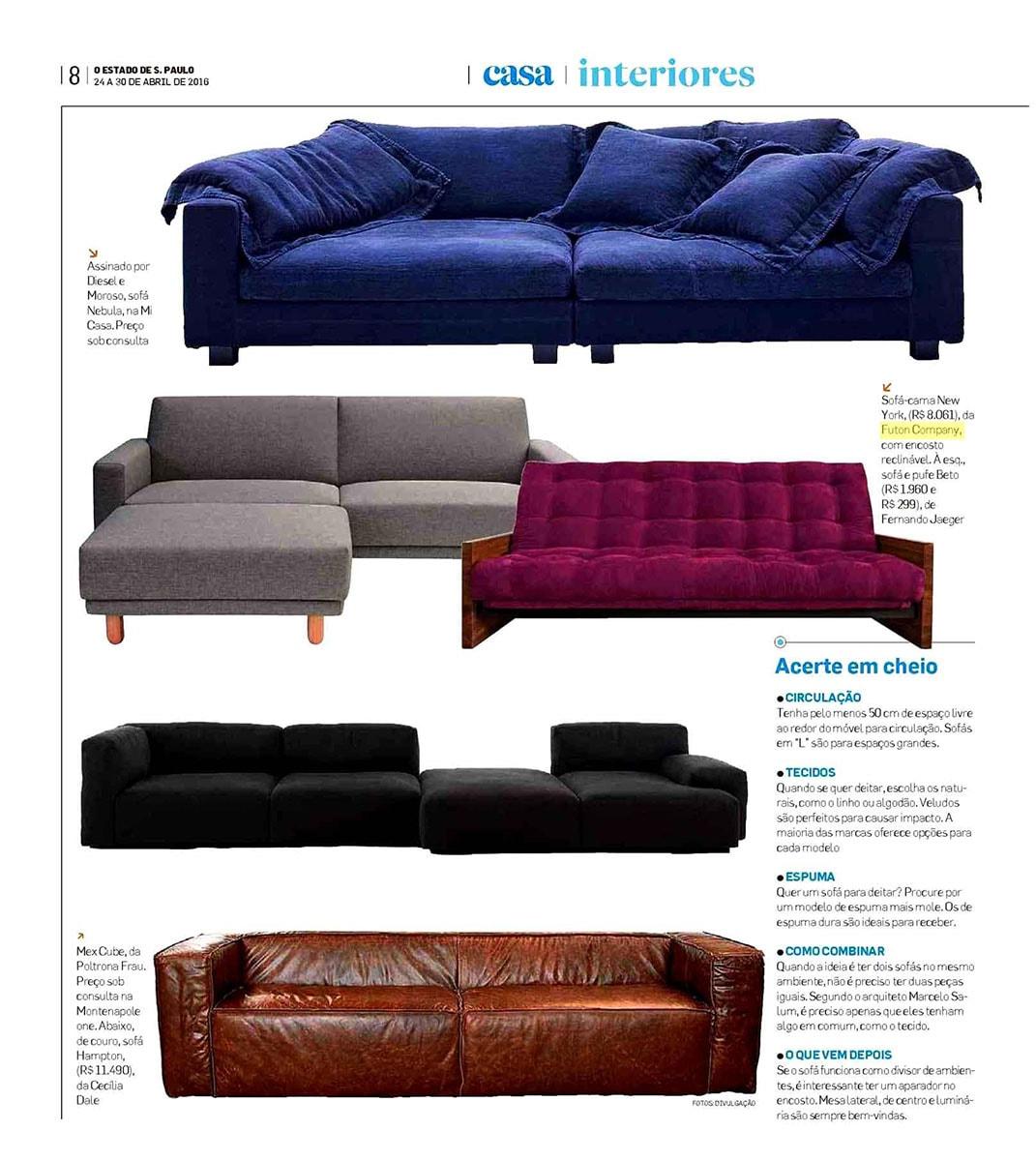 Sofá-cama reclinável New York