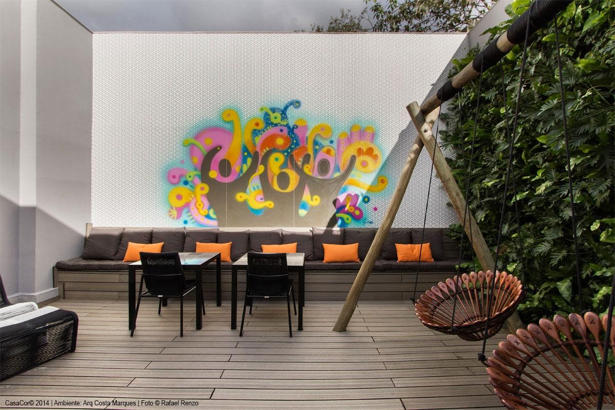 Futon na varanda Gourmet Casa Cor