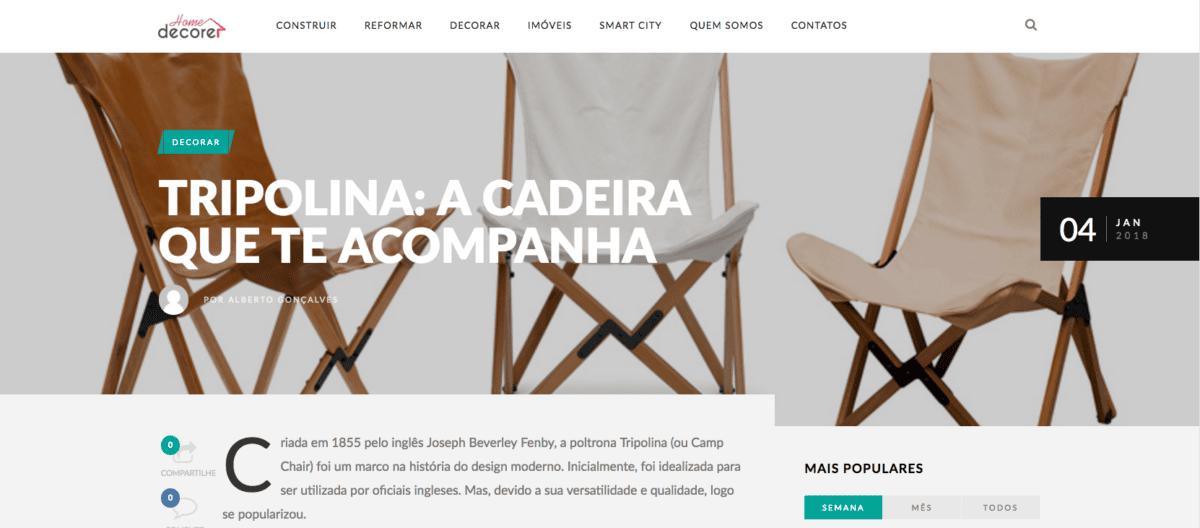 Cadeira tripolina port til home decore 08 01 2018 futon company - Futon portatil ...
