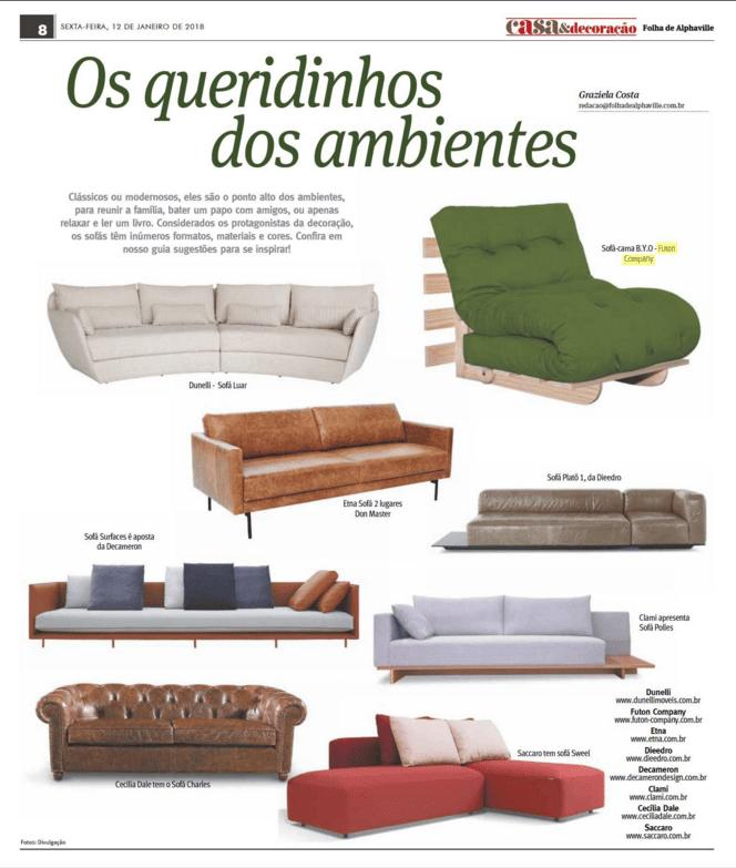 sofa-cama predileto B.Y.O - Revista Alphaville SP - janeiro 2018