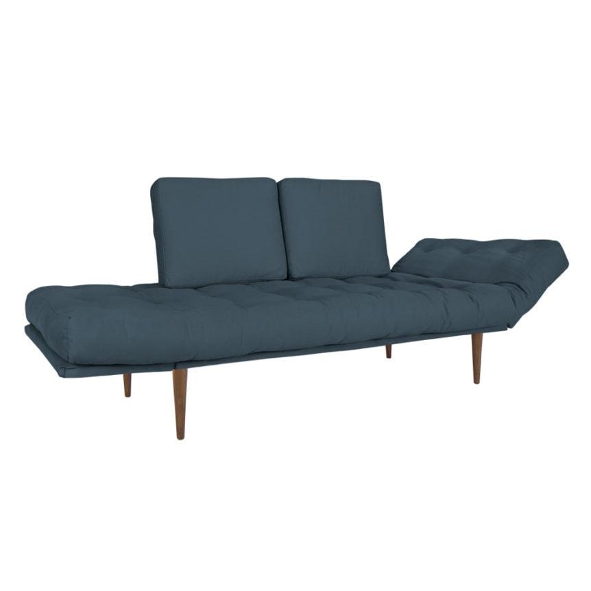 Sofa cama Oslo Palito-Tecido Sarja Azul Delave -02-01