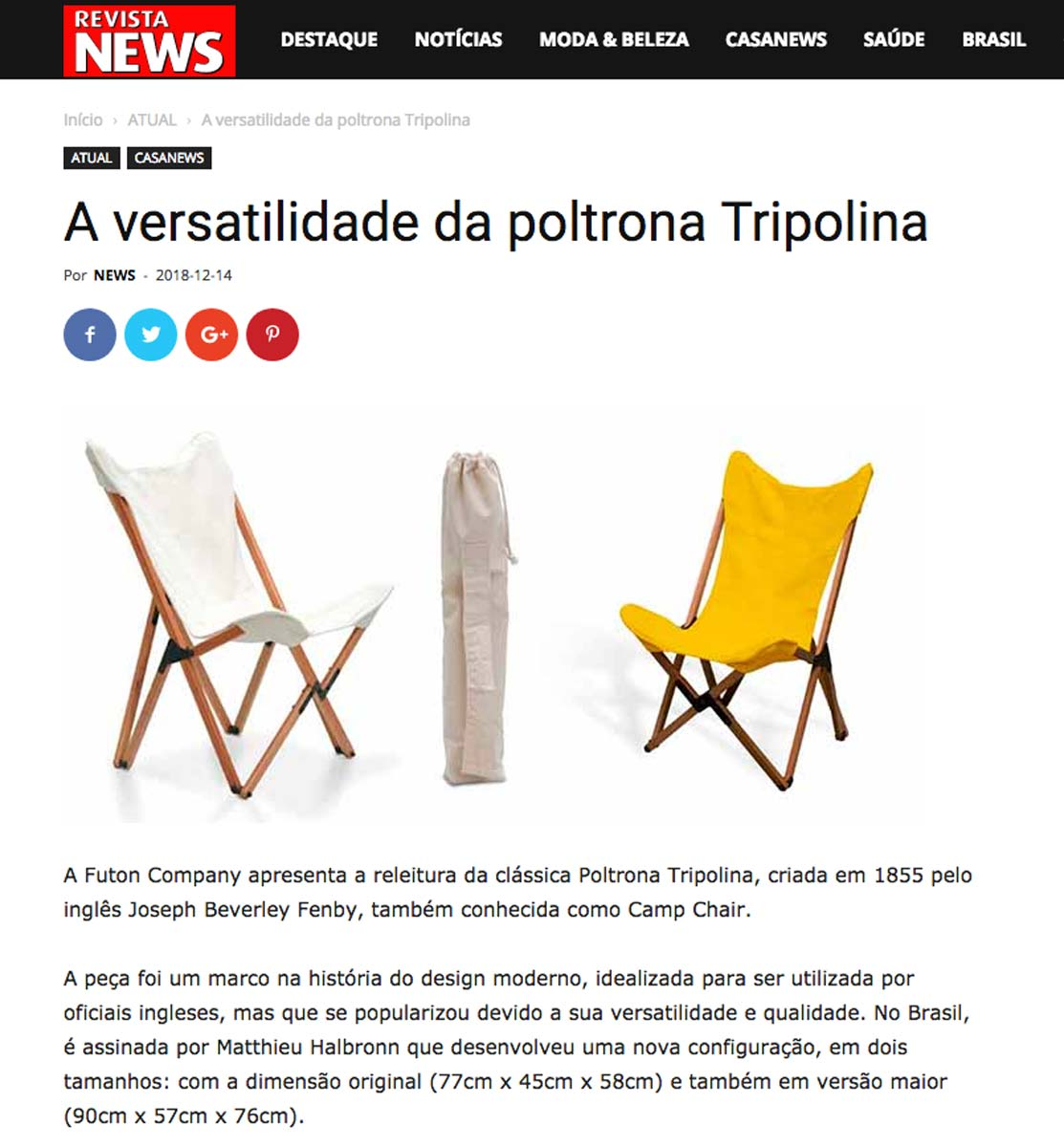 Clipping RevistaNews Tripolina Dez 2018