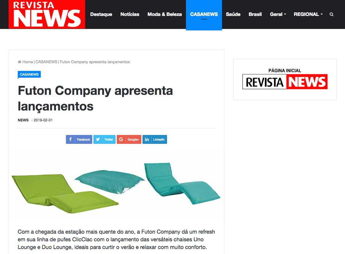 Clipping RevistaNews Lancamento fev 2019