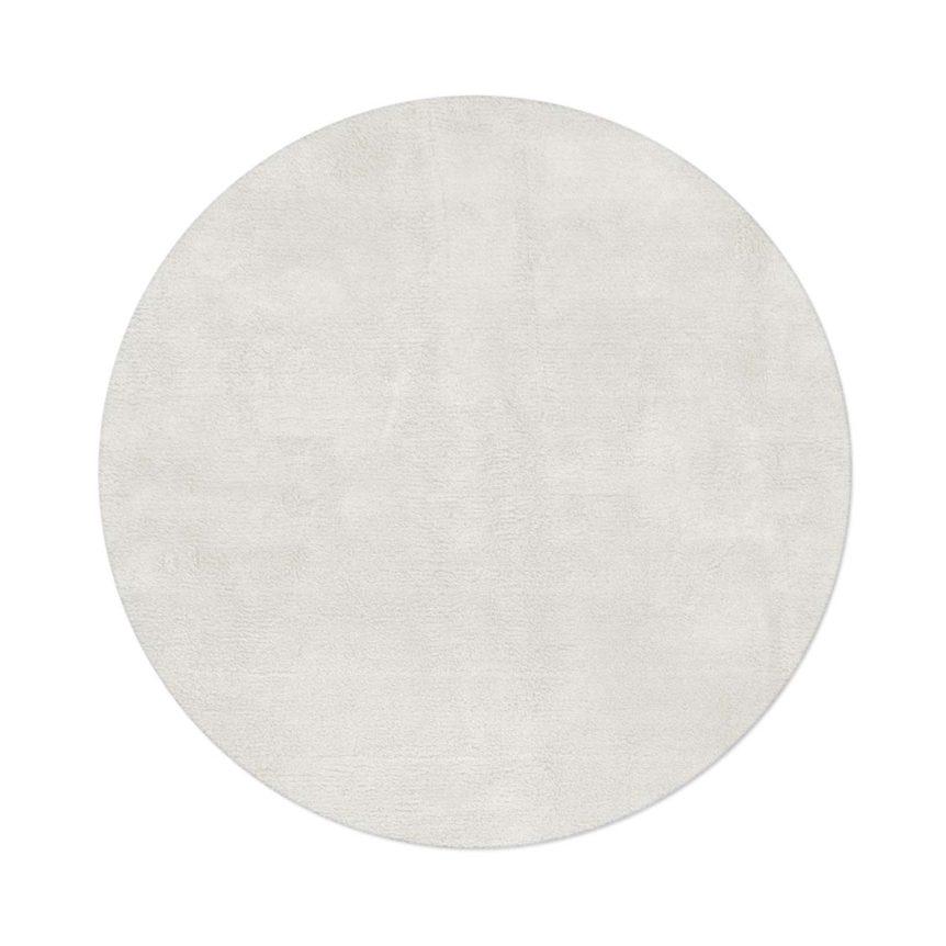 Tapete Floco Redondo 120x120 Tecido Algodão Liso Cru