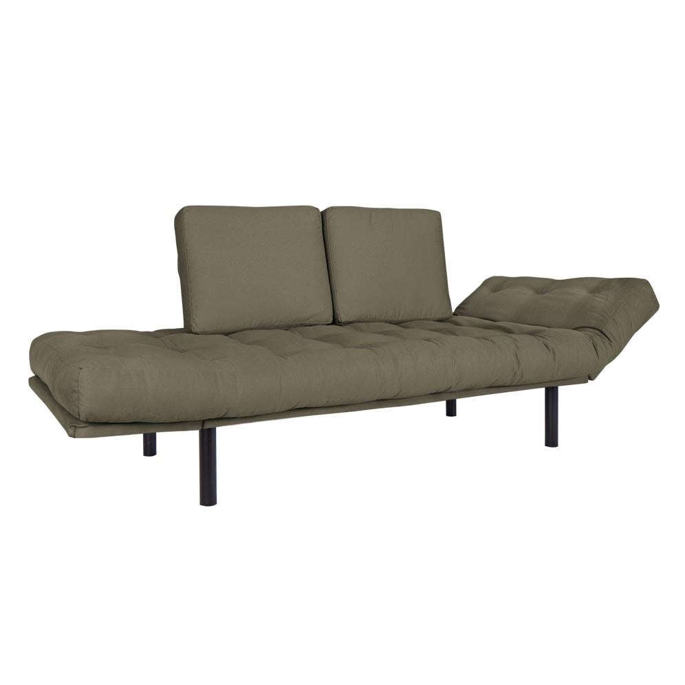 Sofa cama Oslo Black Tecido Sarja Fendi 02-01