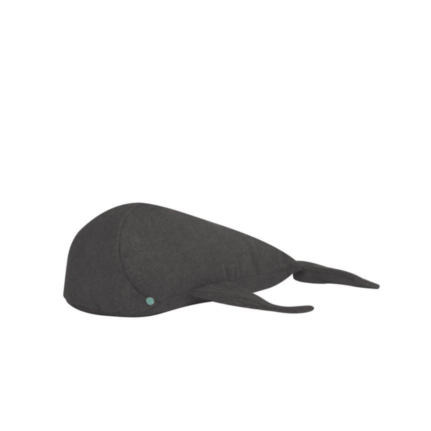 Almofada Baleia P Tecido Feltro Gris 02