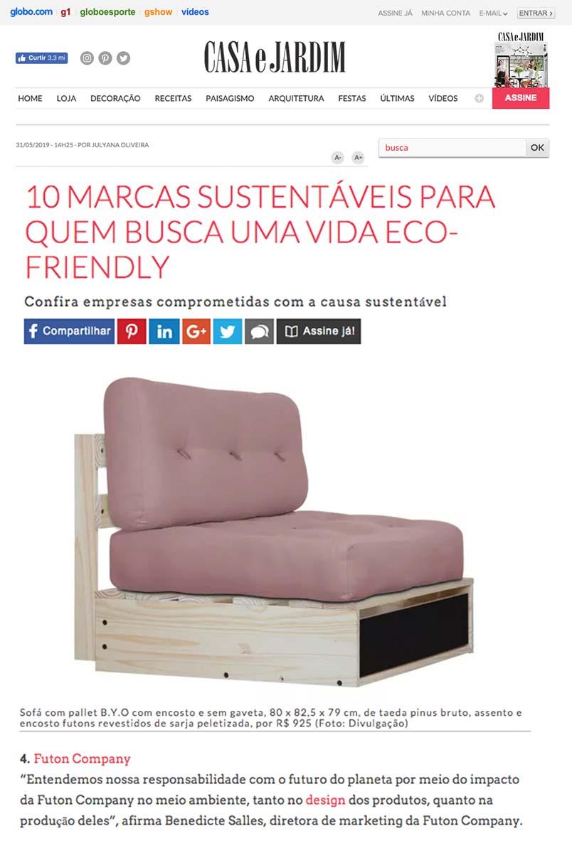 Clipping Casa e Jardim Eco mai 2019