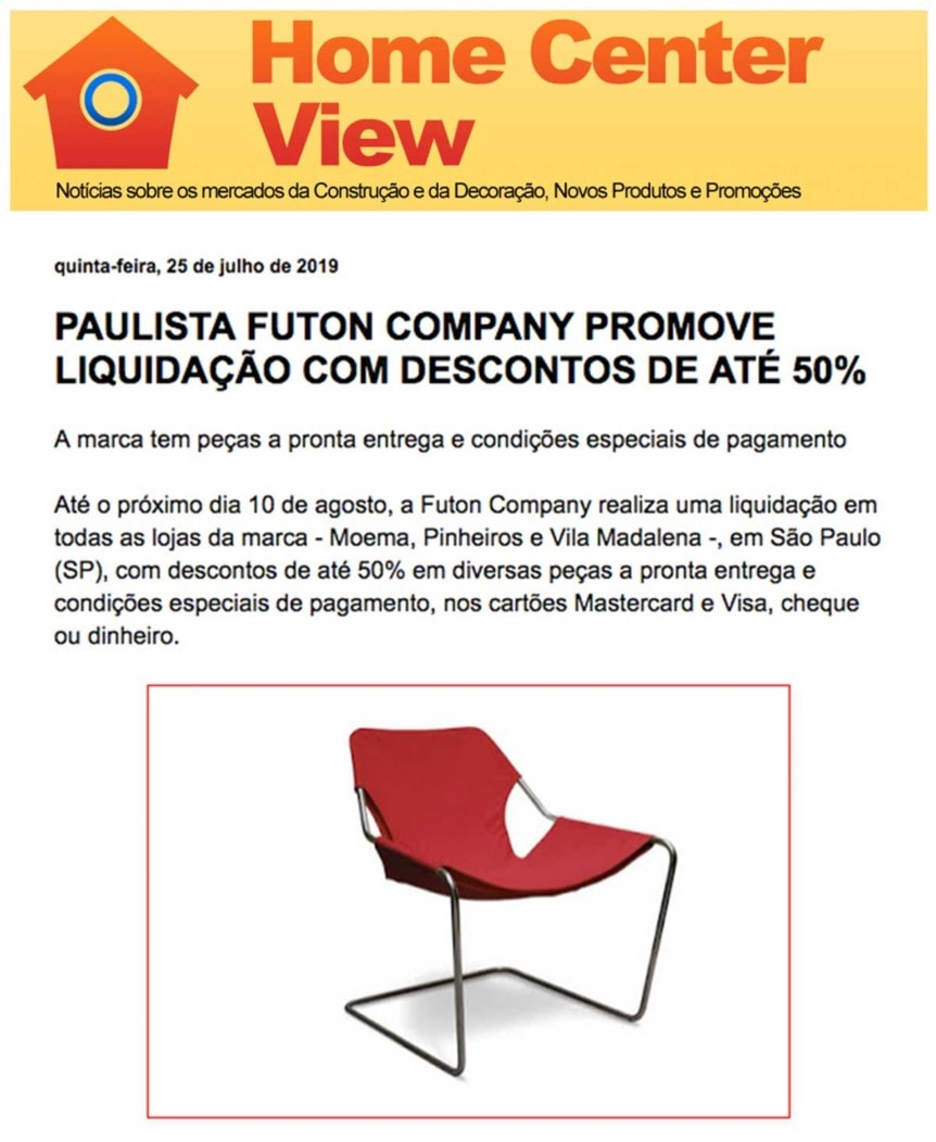 Clipping Home Center View Promocao jul 2019