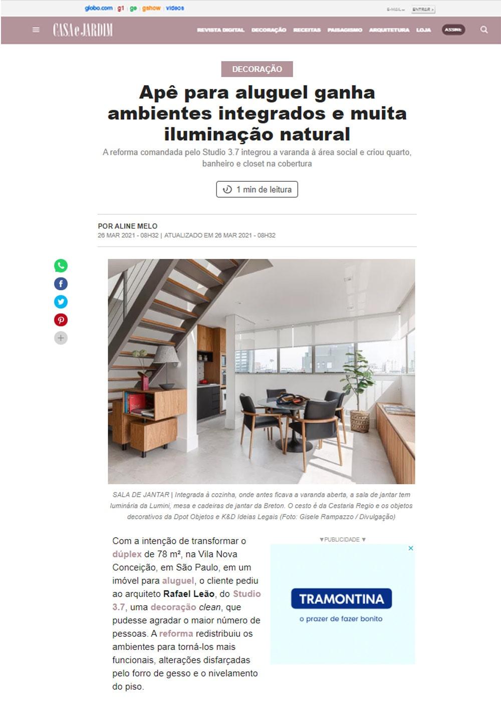 clipping futon company apê para aluguel recebe poltrona Paulistano