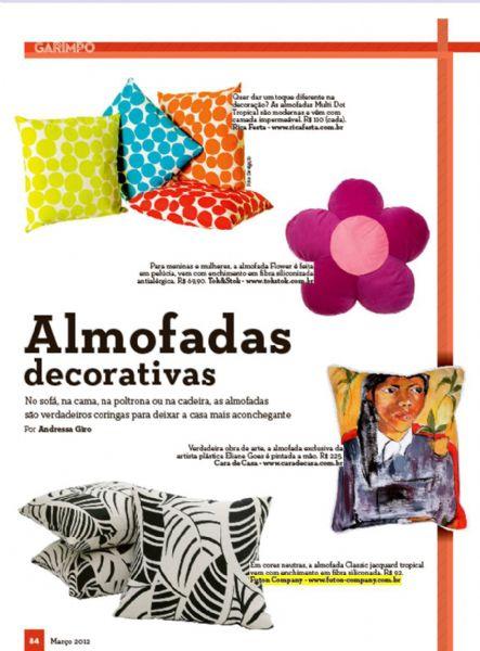 Almofada Classic Revista do Tatuapé - Março 2012 Foto 1