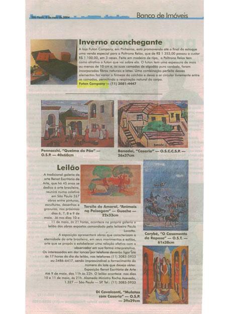 Almofada Zabuton Banco de Imóveis - Maio 2004 Foto 2