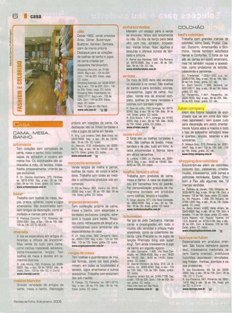 Almofada Zabuton Folha de São Paulo - Janeiro 2005 Foto 2