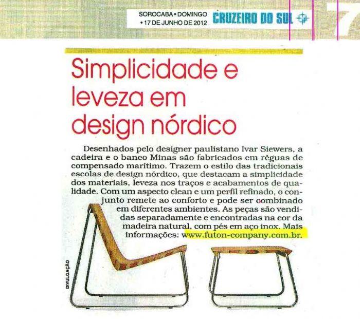 Cadeira e banco MINAS Cruzeiro do Sul - Julho 2012 Foto 1