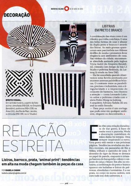 Chaise longue paulo mendes da rocha O Globo - Maio 2013 Foto 1