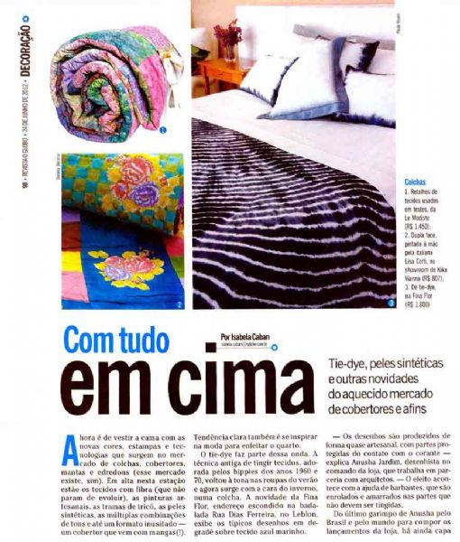 edredom Kakebuton O Globo - Junho 2012 Foto 1