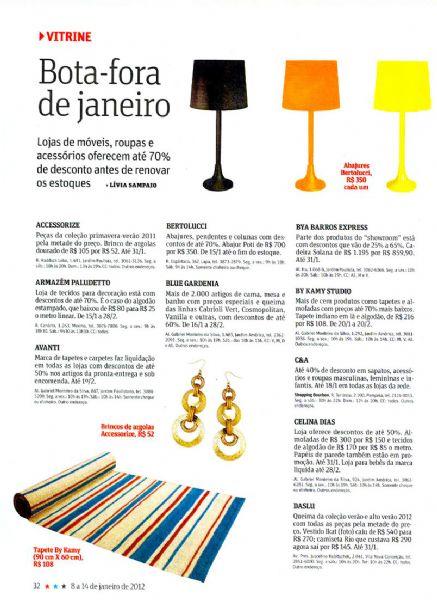 Escolher seu futon Revista da Folha - Janeiro 2012 Foto 1