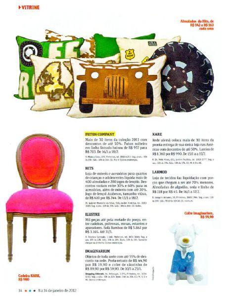 Escolher seu futon Revista da Folha - Janeiro 2012 Foto 2