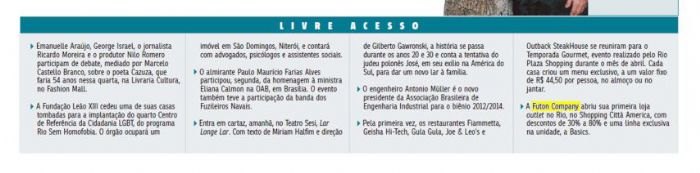 Futon Company Jornal do Commercio - Abril 2012 Foto 2