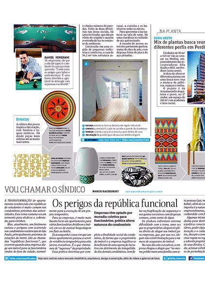 Futon Pufe Folha de São Paulo - Outubro 2013 Foto 1