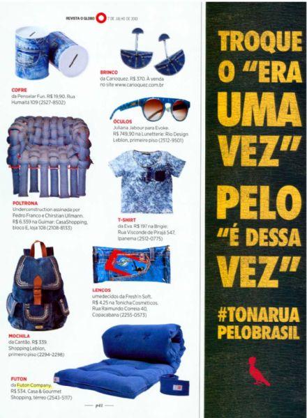 Futon Roll O Globo - Julho 2013 Foto 2