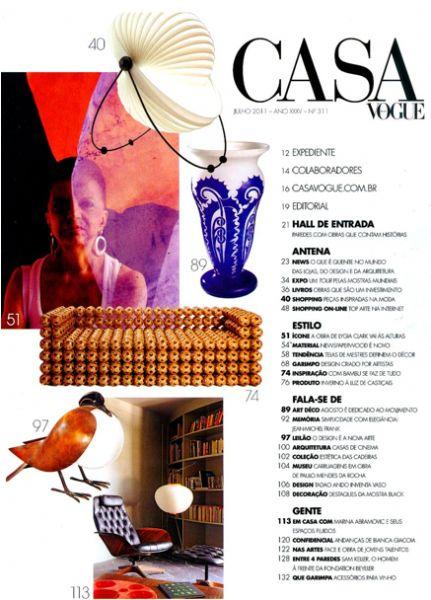 Luminária Eclipse Casa Vogue - Julho 2011 Foto 1