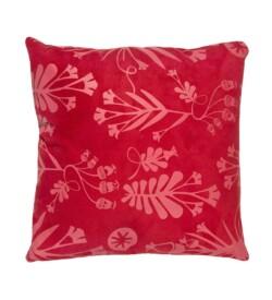 almofadas estampadas vermelhas