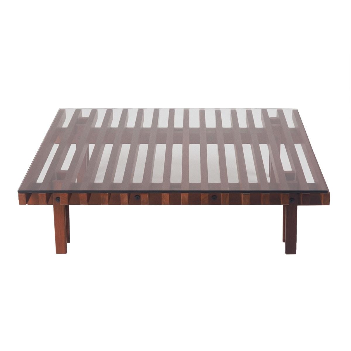 Mesa de centro de madeira futon company - Mesa de centro lack ...
