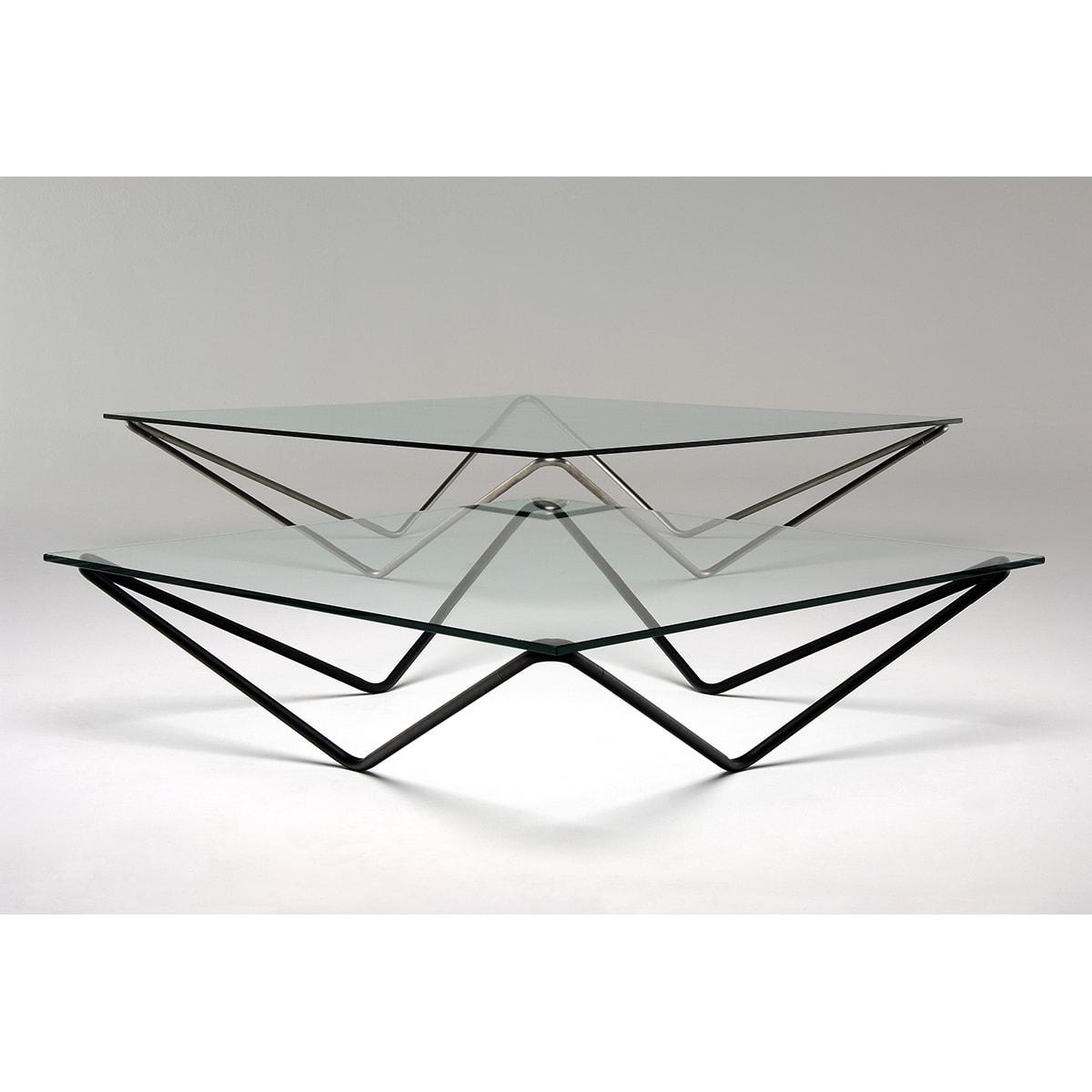Mesa De Centro De Vidro Futon Company