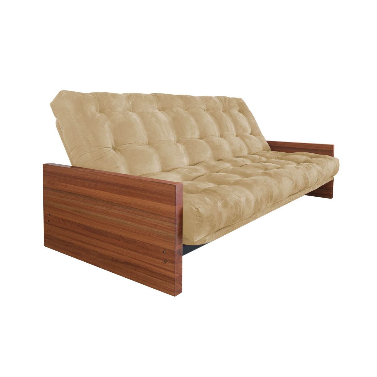 Suede chaise sof de canto 6 lugares com chaise astor for Chaise lounge cama